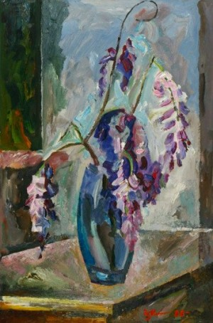 Wisteria Flowers', 1988, 73,5x51