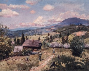 Spring In Stavne Village, 1963, oil on canvas, 63x80