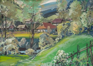 V. Hanzel The Picturesque Outskirts Of Volovets Village'