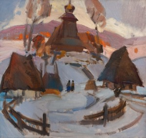 Кашшай А. 'Солом'яні хати', 1977, п.о., 84х90
