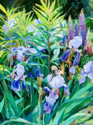 Іриси в саду, 2006, п.о., 80х60