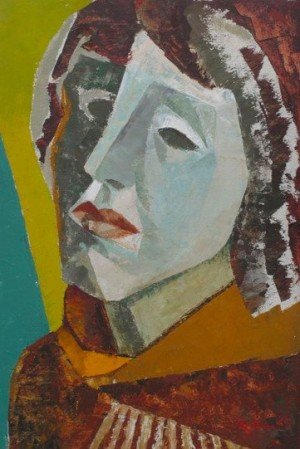 A Woman's Head', 1965, 47x34
