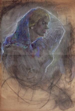 Портрет жінки, 1940, к.паст., 87х65