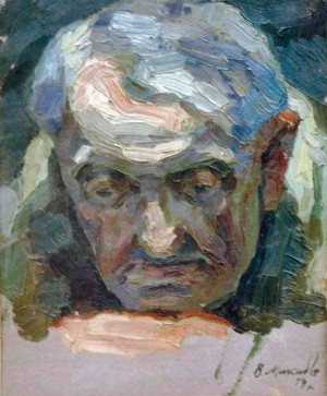 Старий (Етюд), 1954, п.о. 28х22