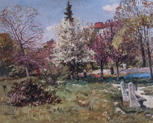Spring In The Park, 1964, oil on canvas, 73x90
