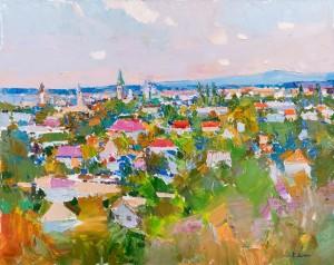 Дулін Є. 'Видно Виноградів', 2018, п.о., 50х60