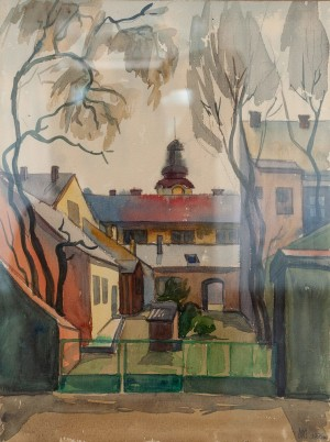 L. Mykyta 'An Old Yard. Uzhhorod', 1995, watercolour on paper