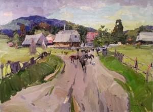 O. Shandor 'A Herd Of Cows', 2014