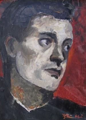 'Голова чоловіка', 1962, 31.5х24