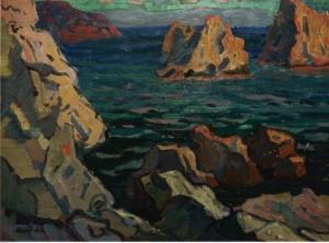Море біля дому Коровіна, 1959, к.о., 59х82,5