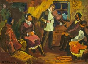 Музика, 1952, к.о., 32х42