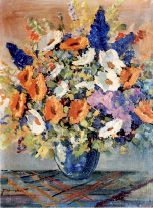 Wildflowers, 1950, oil on canvas, 80x60