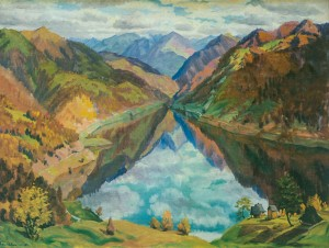 Вільшанське озеро, 1960, п.о. 100х130