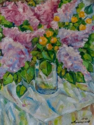 A. Mukhamedianov Still Life. Lilac', 2018