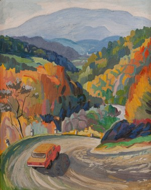 L. Mykyta 'An Old Pass', 1985, gouache on cardboard