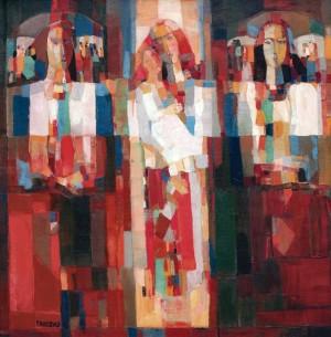 Verkhovyna Harmony, 1997, oil on canvas, 80x80