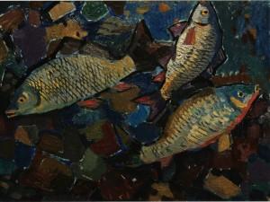 Натюрморт з коропами, 60-ті рр., к.о., 49х69,5
