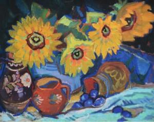 Натюрморт із соняхами, 60-ті рр., п.темп., 60х80