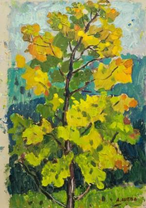 Осінні барви дерева, к.о., 50х32