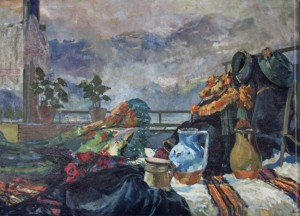 View from the Balcony, 1960, oil on canvas, 140x200