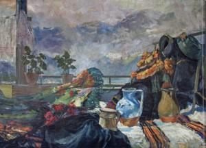 Погляд з балкона, 1960, п.о., 140х200