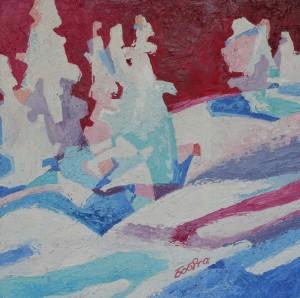 Зима, 2016, 60х60