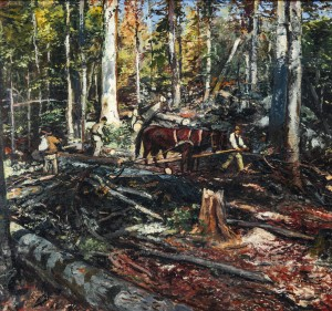 Timber Removing, 1947, oil on canvas, 110x115