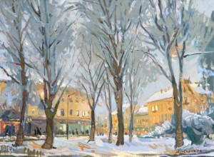 Winter Evening, 2004, oil on canvas, 50x70