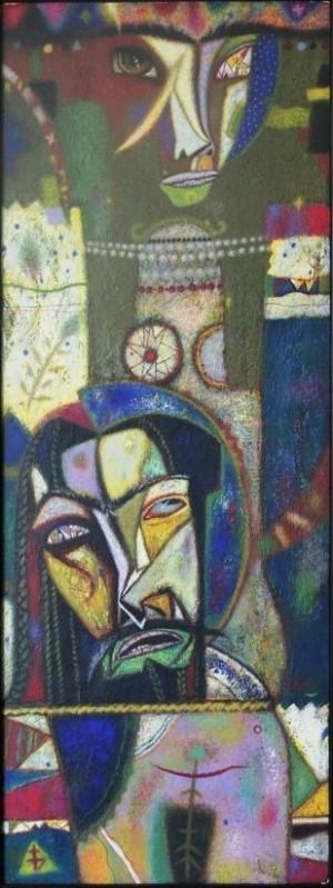 Обійми Саломеї, 2006, т.двп, левкас, жовткова емульсія, 45×130