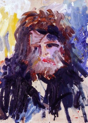 P. Sholtes  'Self-portrait', oil on cardboard, 1991, 60x50