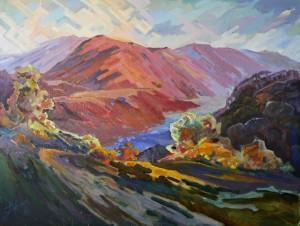 Crimson Of Vyshka Mountain, 2015, 60х80