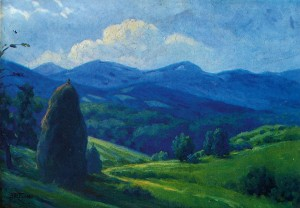 Mountain Landscape, 1946, oil on cardboard, 39,5х50