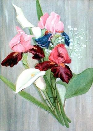 'Irises', 2003, oil on canvas, 33,5х45,8