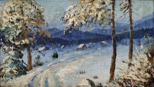 'In Winter', the 1930s, oil on plywood, 18x30.jpg