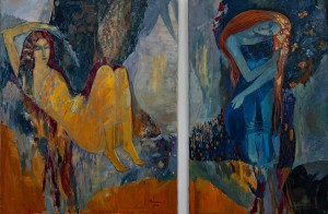 O. Vasylian Diptych 'Light And Dark', 2018