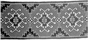 'Доріжка', 1981, вовна, ручне ткацтво