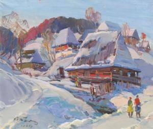 Village, 1980, oil on canvas, 74х74