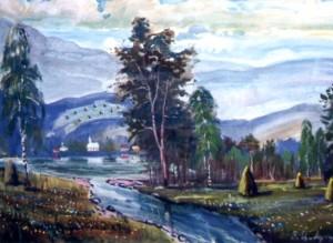 Біля Тиси, 2002, п.о., 70х80