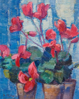 Cyclamens, 1969, oil on canvas, 60х50