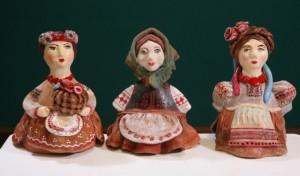 Керамічні ляльки, кераміка, ручна ліпка, тонування, 10х6