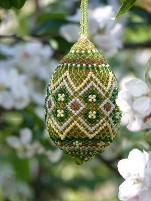 Easter Eggs, 2004-2014, beads