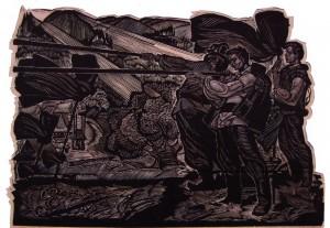 Трембіти, 1967, лінорит, 60х80