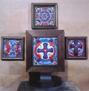 Cossack Crosses, 1994, wood, ceramics, 39х28х24