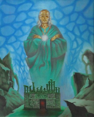 Хранитель знань, 1994, п.о., 100х80