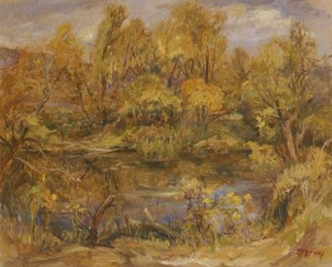 In the Headwaters of the River Latorytsia, 2007, oil on canvas, 65х80