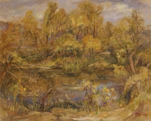У верхів'ях річки Латориці, 2007, п.о., 65х80