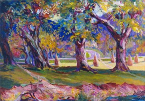 Old Willows, 1977, oil on cardboard, 50x70