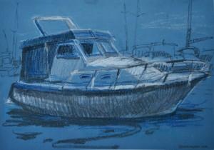 На пристані, 2016, пастель, пастельний папір, 297×420