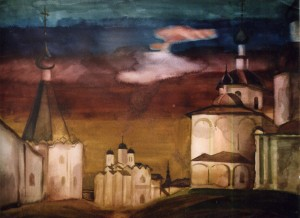 Cyryl-Bilozerskyi Monastery, 1980, watercolour on paper, 60x80