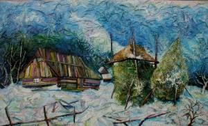 'Lozovanska Manor', 1995, plywood, mixed technique, 125x75.JPG